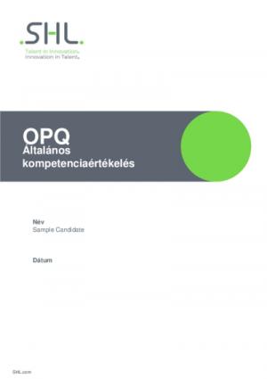 OPQ Általános kompetenciaértékelés