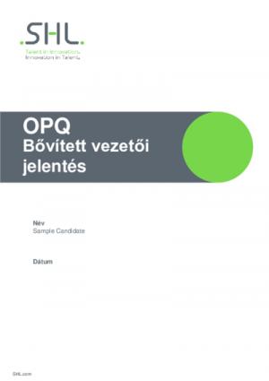 OPQ Bővített vezetői jelentés