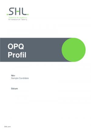 OPQ Profil jelentés