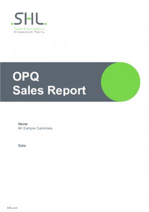 OPQ MQ Sales Report