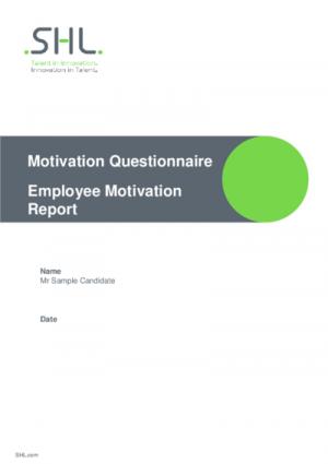 MQ Employee Motivation Report Std v2.0 English International