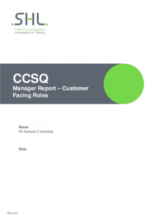 CCSQ Managers Report Std v2.0 English International