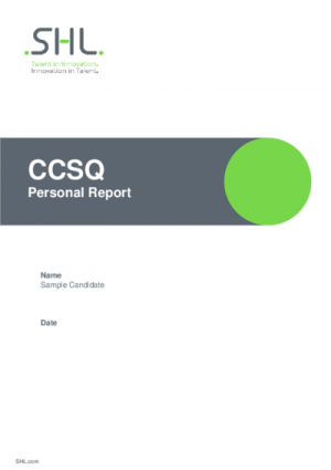 CCSQ Personal Report Std v2.0 English International