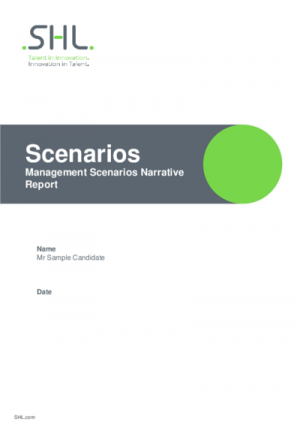 Management Scenario - Narrative Report English International