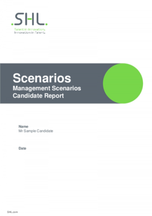 Management Scenario - Candidate Report English International