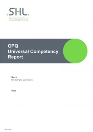 OPQ Universal Competency Report