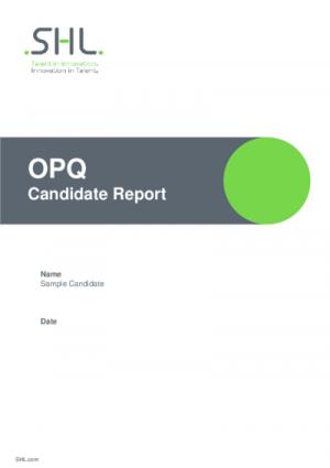 OPQ Candidate Report