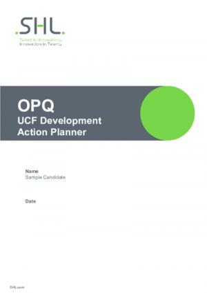 OPQ UCF Development Action Planner (TC Version) English International