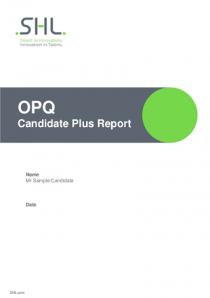 OPQ Candidate Plus Report English International