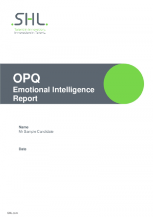 OPQ Emotional Intelligence Report Std v2.0 English International