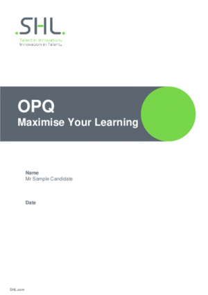 OPQ Maximise Your Learning Report Std v2 English International