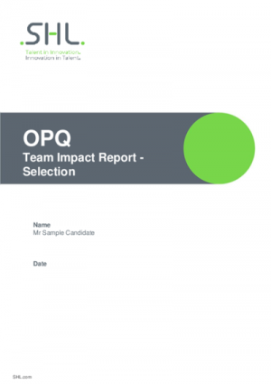 OPQ Team Impact Selection Report v2.0 English International
