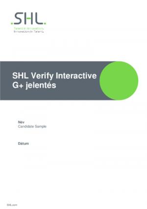 Verify Interactive G+ teszt - Szakértői jelentés