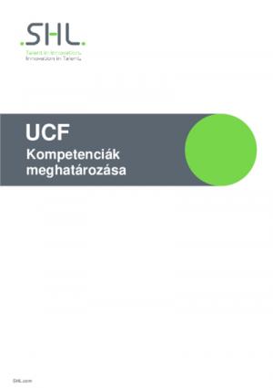 UCF - Kompetenciák meghatározása