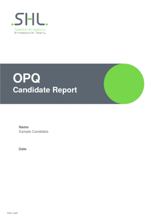 Candidates Report