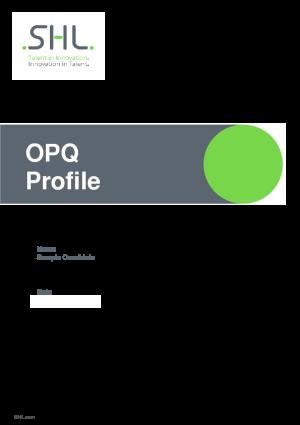 OPQ32 Profile