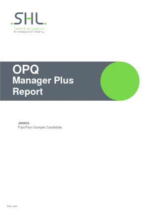 OPQ Manager Plus Report (CZ)
