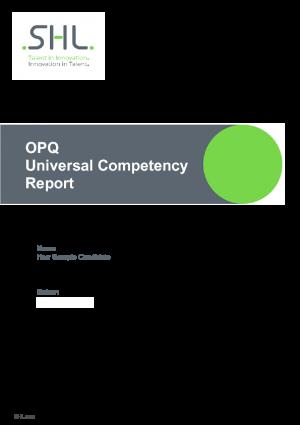 OPQ Universal Competency Report (DE)