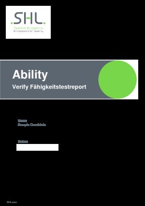 Verify Fähigkeitstestreport (DE)