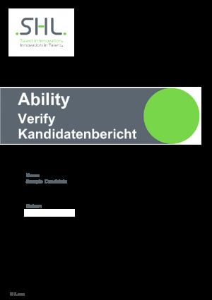 Verify Kandidatenbericht (DE)