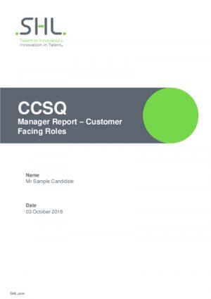 CCSQ Managers Report Std v2.0 English International